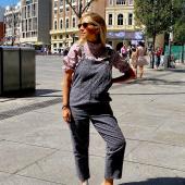 Agosto en Madrid con @bevarac 😎 Conjunto Lila de Aros Matisse + Aro Pissarro + Aro Francia + Mini Doble Pétalo 💜 #bevarac