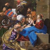 """Esperamos que estéis teniendo un feliz día de Reyes lleno de ilusión y magia 💫  (¡Y con mucho VARAC!) 😜🥰  Aprovechamos para desearos lo mejor en este día y que el 2021 venga cargado de salud, proyectos, amor e ilusiones... con este espectacular cuadro """"La Adoración de los Reyes Magos"""" de Fray Juan Bautista que podemos ver en el @museoprado   #bevarac"""